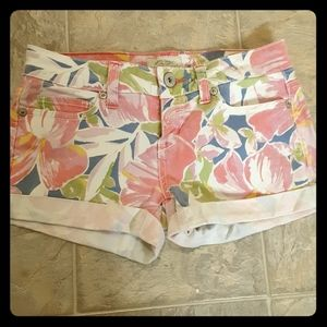 Aeropostale floral jean shorts